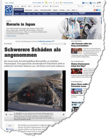 Fukushima - Schwerere Schäden als angenommen - Ausland 1305206840178
