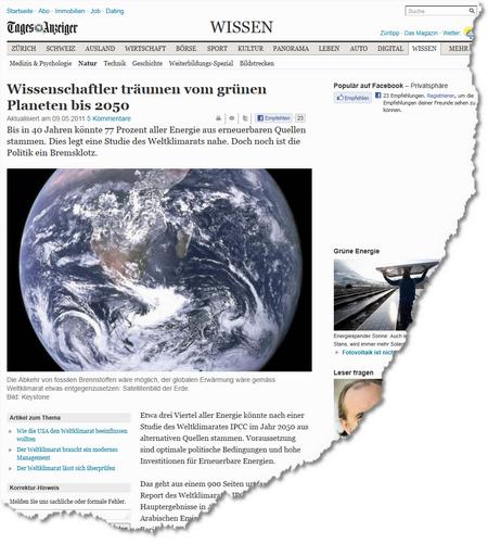 Wissenschaftler träumen vom grünen Planeten bis 2050 - News Wissen- Natur - tagesanzeiger
