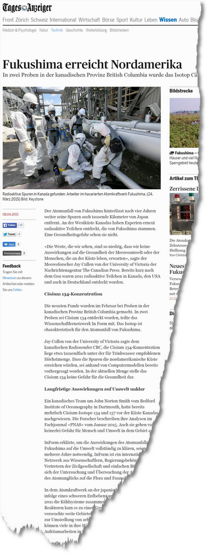 Fukushima erreicht Nordamerika News Wissen Technik tagesanzeiger