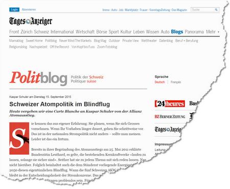 Schweizer Atompolitik im Blindflug « Politblog